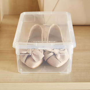 shoe box our clear plastic shoe box the container store. Black Bedroom Furniture Sets. Home Design Ideas