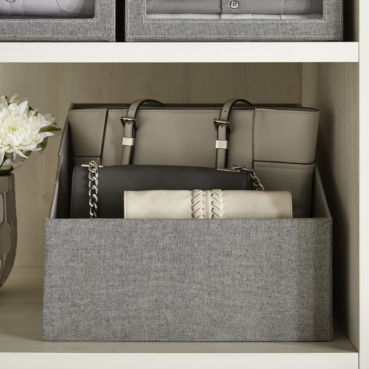 Grey Cambridge Purse Storage Bin
