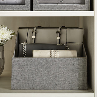 Grey Purse Storage Bin