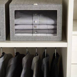 Grey Drop-Front Shirt Box