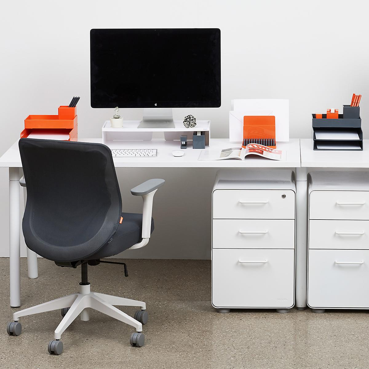White Poppin 3-Drawer Stow File