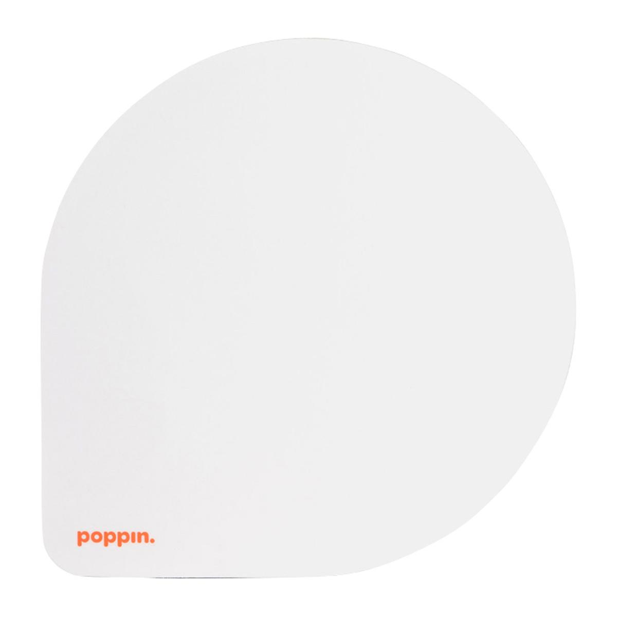 White Poppin Mousepad