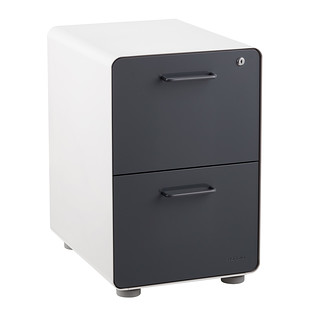Poppin Dark Grey 2-Drawer Locking Stow Filing Cabinet