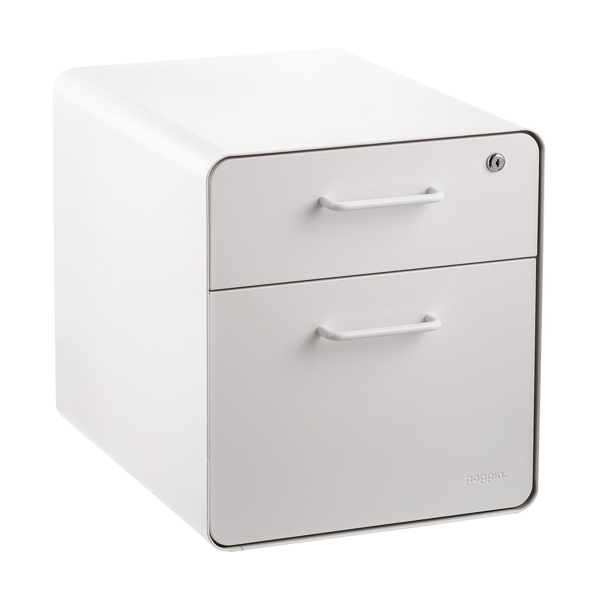 file cabinet seat poppin white 2 drawer mini stow filing cabinet with seat 15349