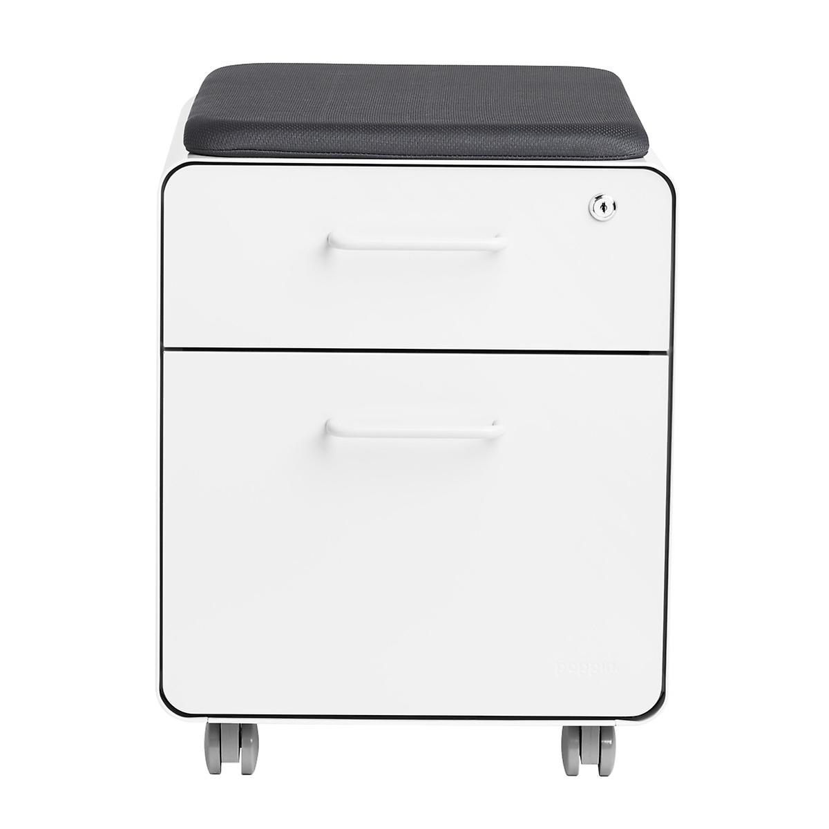 mini file cabinet poppin white 2 drawer mini stow filing cabinet with seat 23343