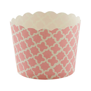 Small Pink Clover Baking Cups
