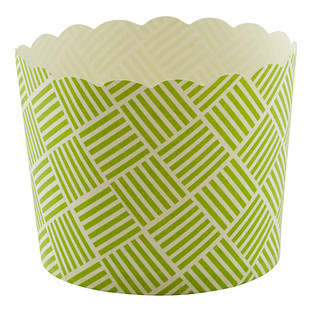 Large Green Weave Baking Cups