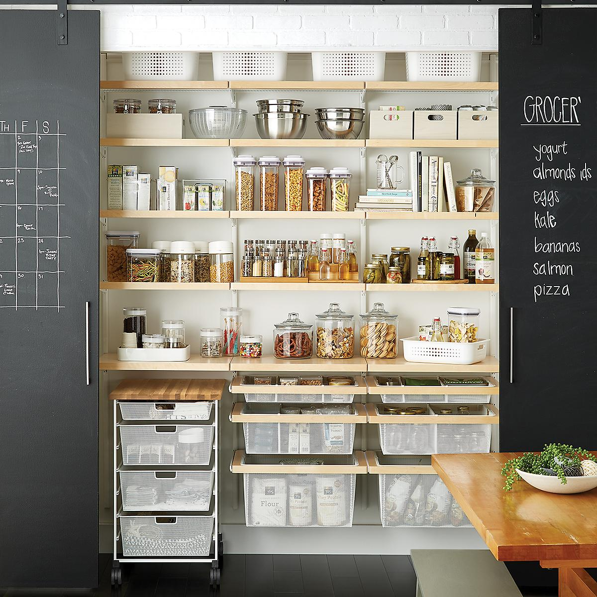 White & Birch Elfa Décor Reach-In Pantry