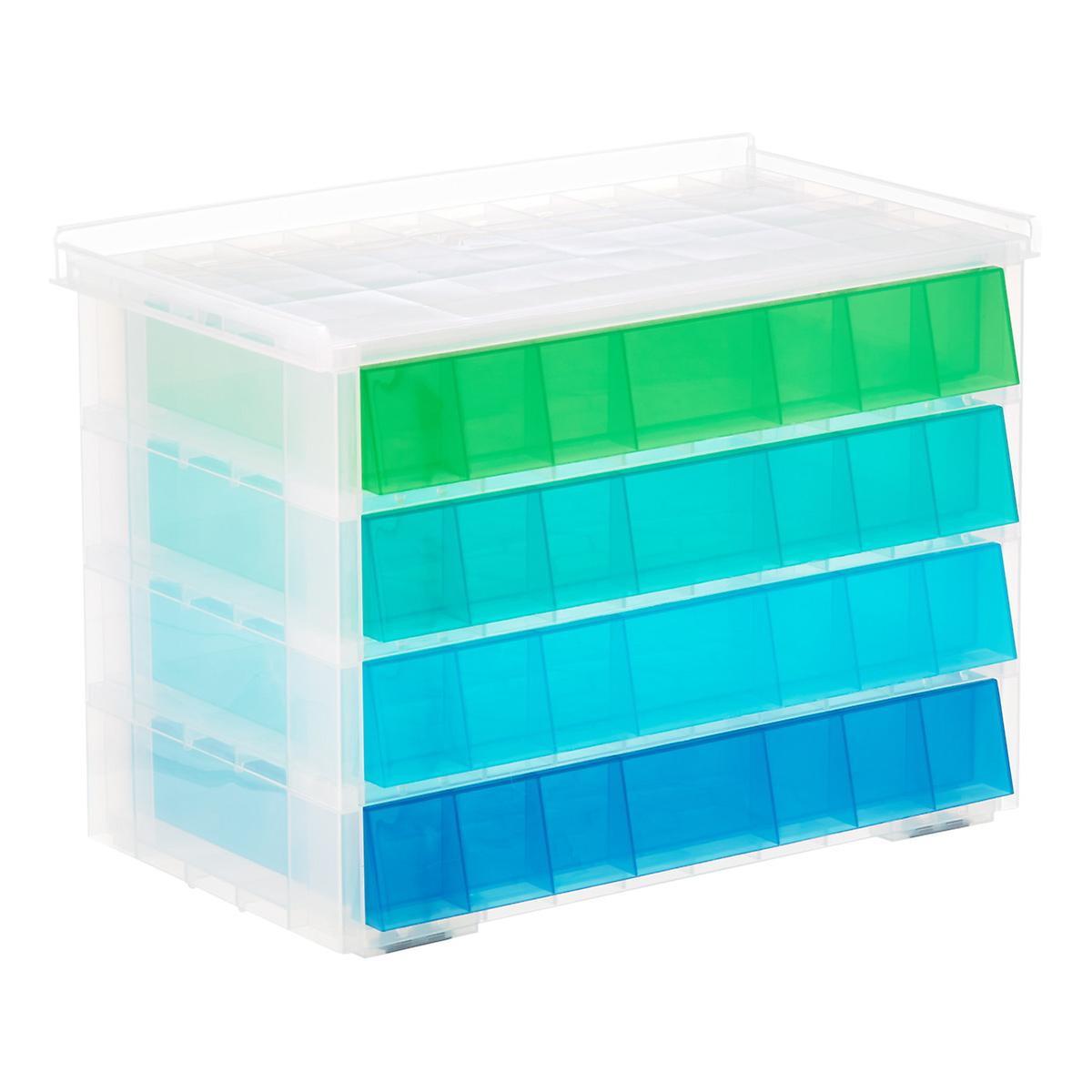 Blue Aquarium 4-Drawer Storage Unit