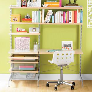 Birch & Platinum Office Desk