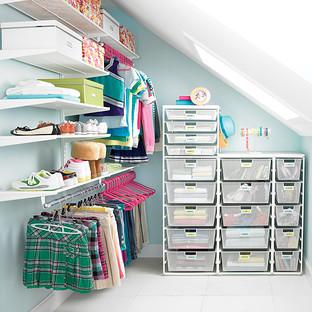 White elfa Walk-In Closet