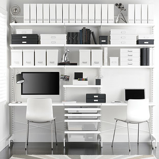 White Elfa Décor Freestanding Office