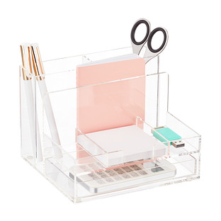 Three by Three Small Acrylic Desktop Organizer