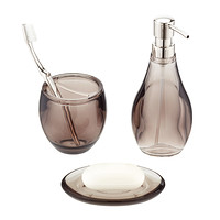 Umbra Smoke Droplet Acrylic Countertop Bathroom Set