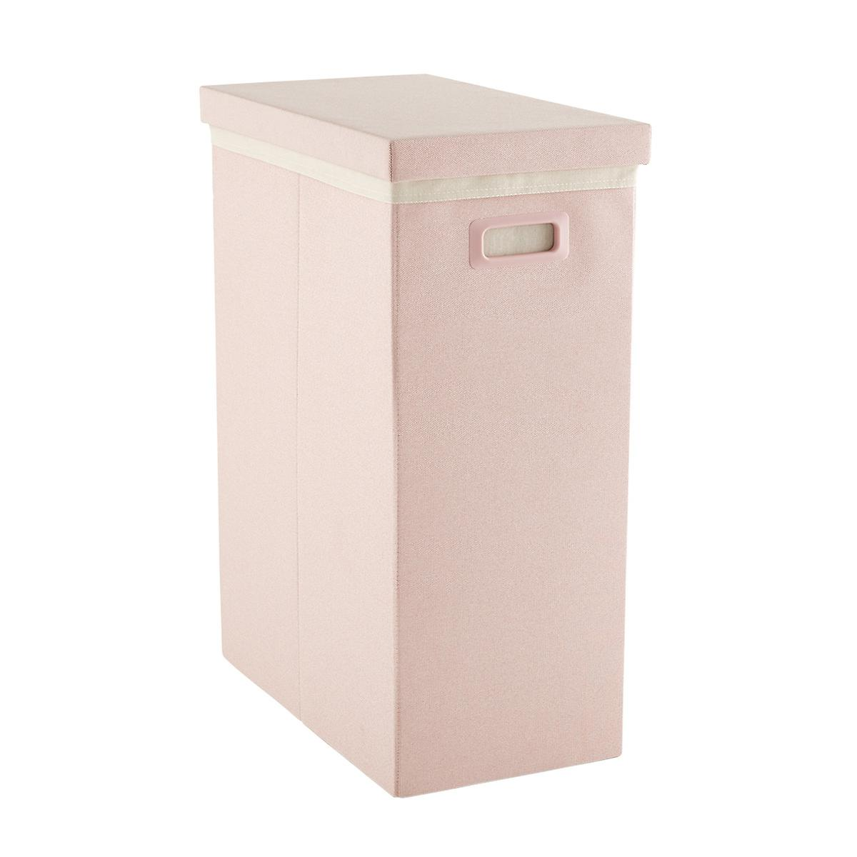 Blush Pink Poppin Laundry Hamper with Lid