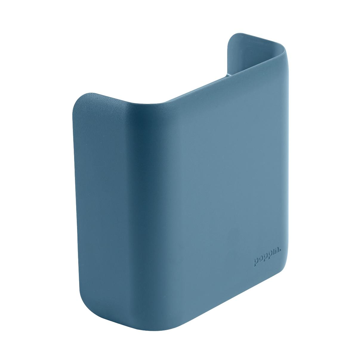 Slate Blue Poppin Magnetic Divided Pencil Cup