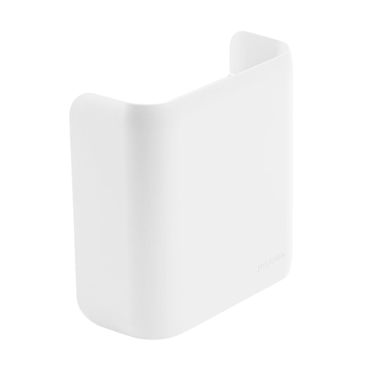 Poppin White Magnetic Divided Pencil Cup