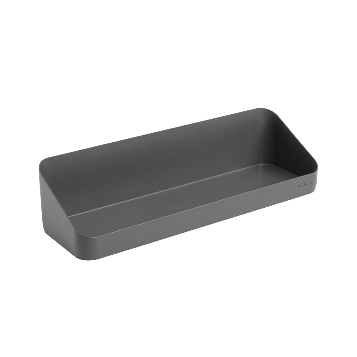 Dark Grey Poppin Magnetic Wall Shelf