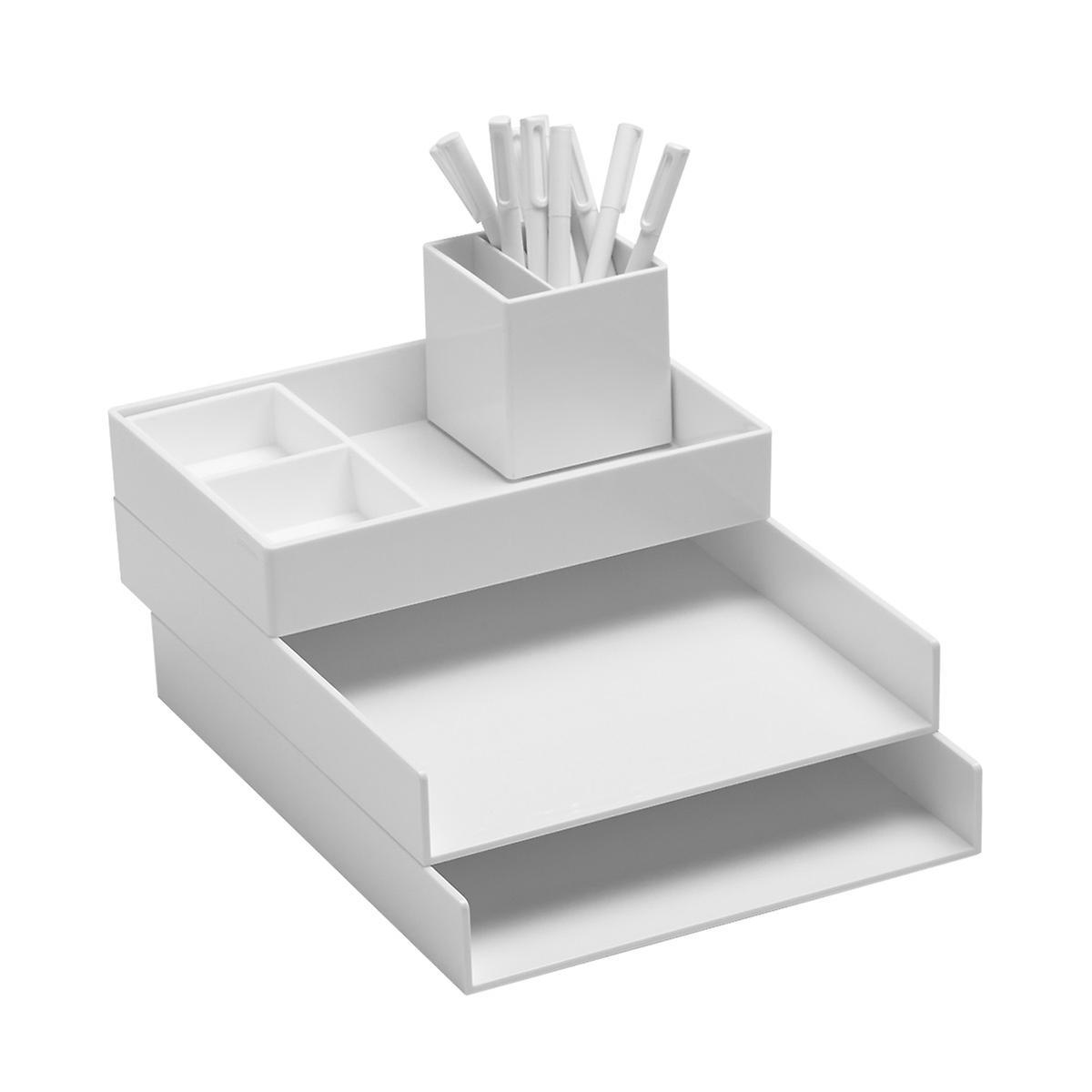 White Poppin Letter Tray Starter Kit