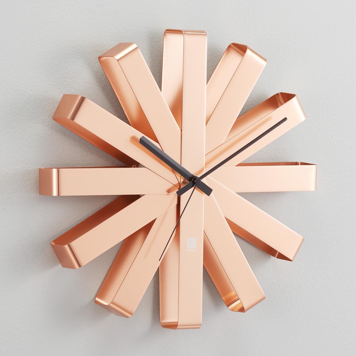 Umbra Copper Ribbon Wall Clock