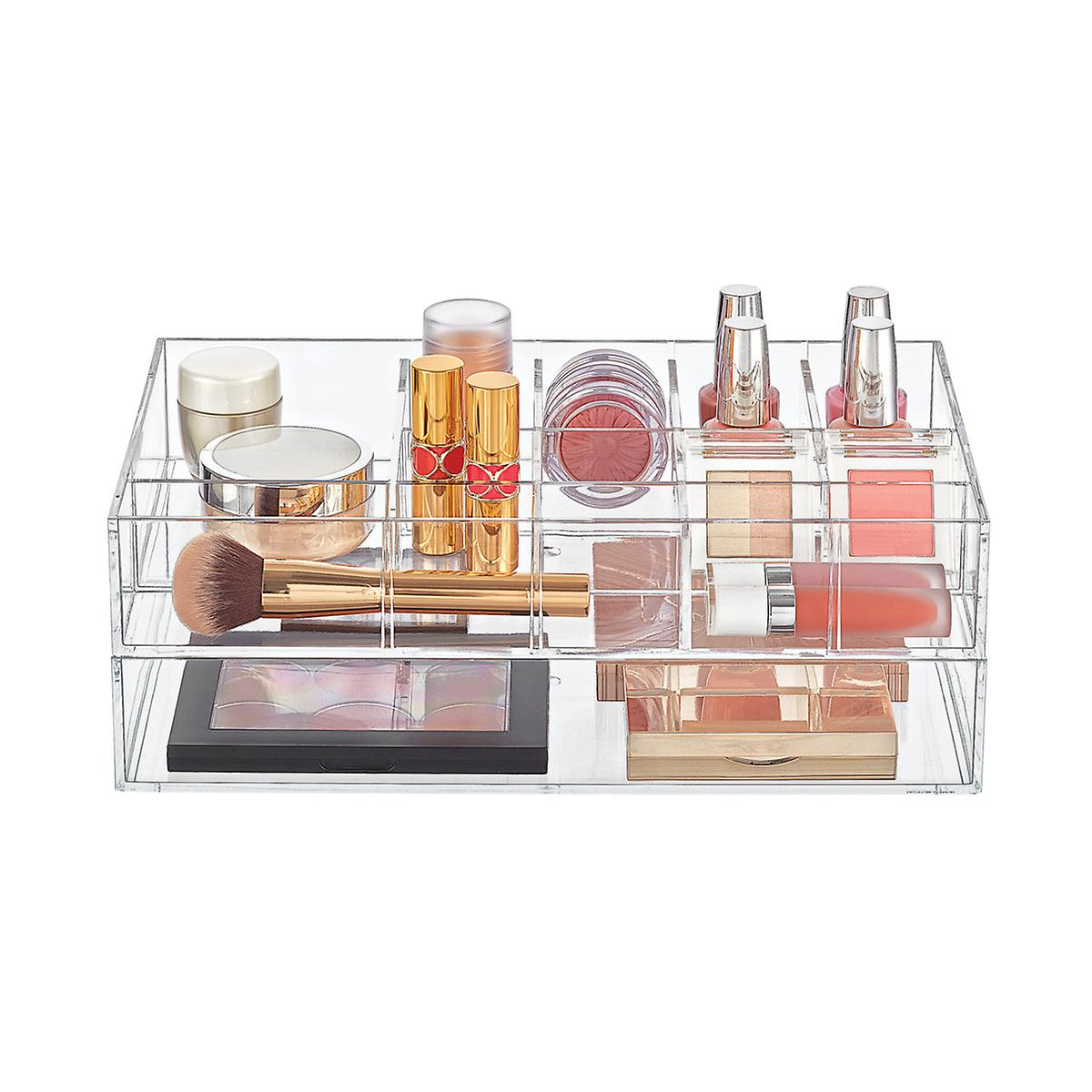 Clear Acrylic Makeup & Nail Polish Storage Starter Kit