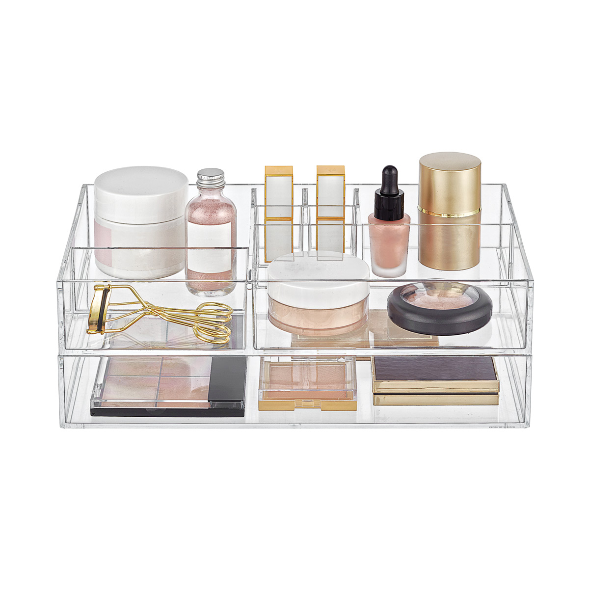 Clear Acrylic Makeup & Skin Care Storage Starter Kit
