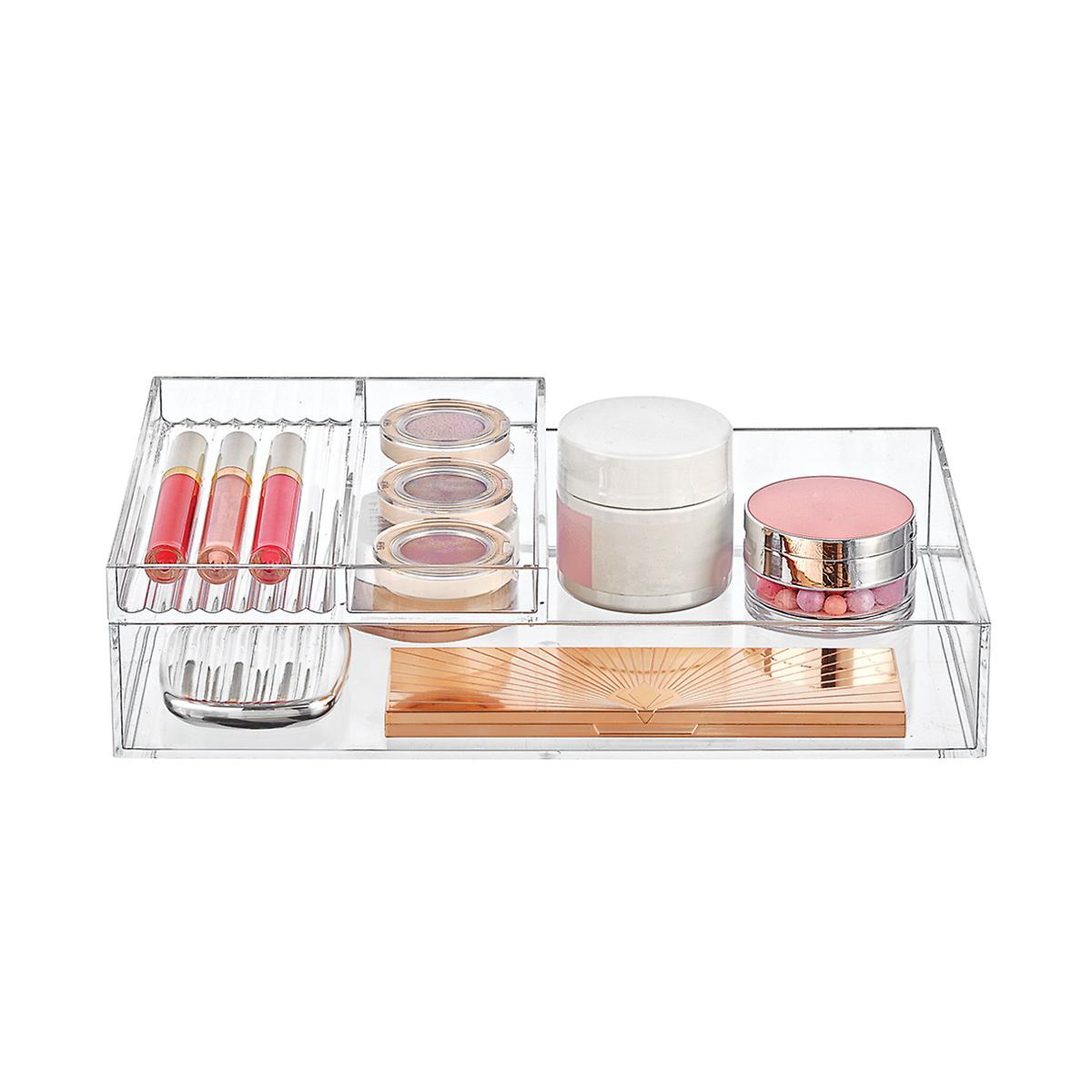 Clear Acrylic Trays Makeup Storage Starter Kit