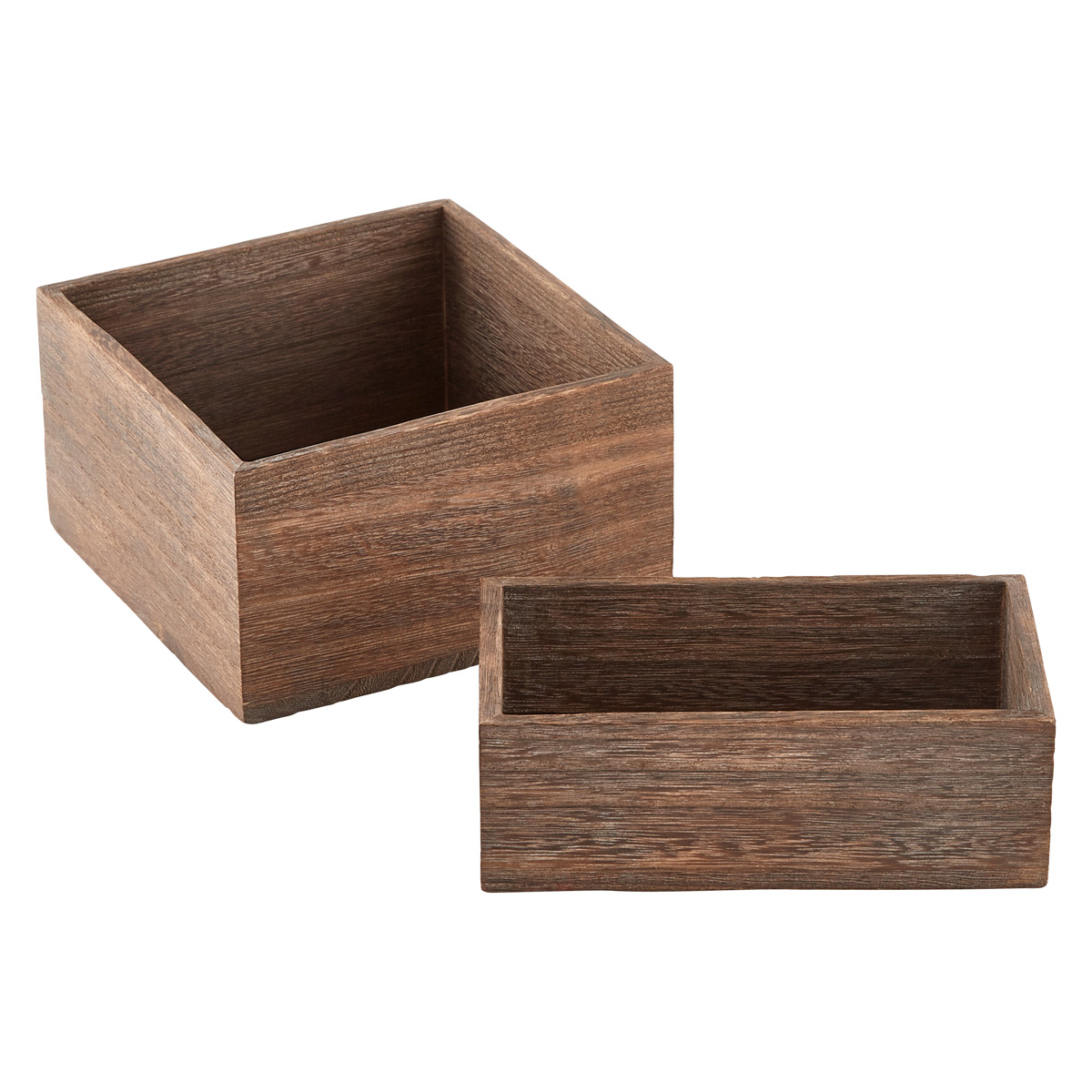 Feathergrain Wooden Containers