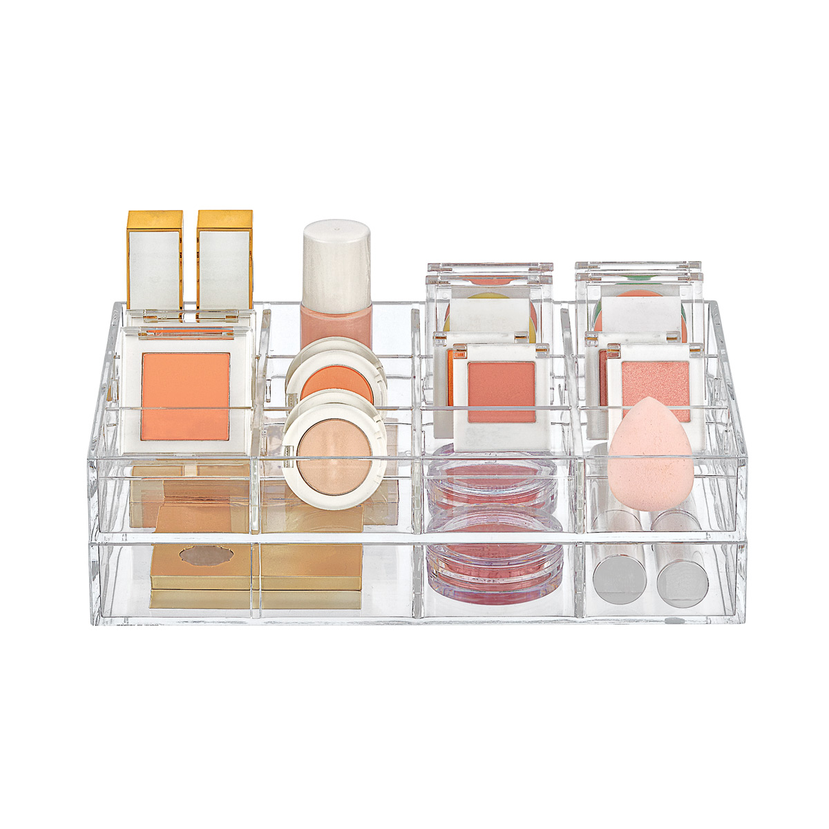 Small Clear Acrylic Makeup Storage Trays Starter Kit