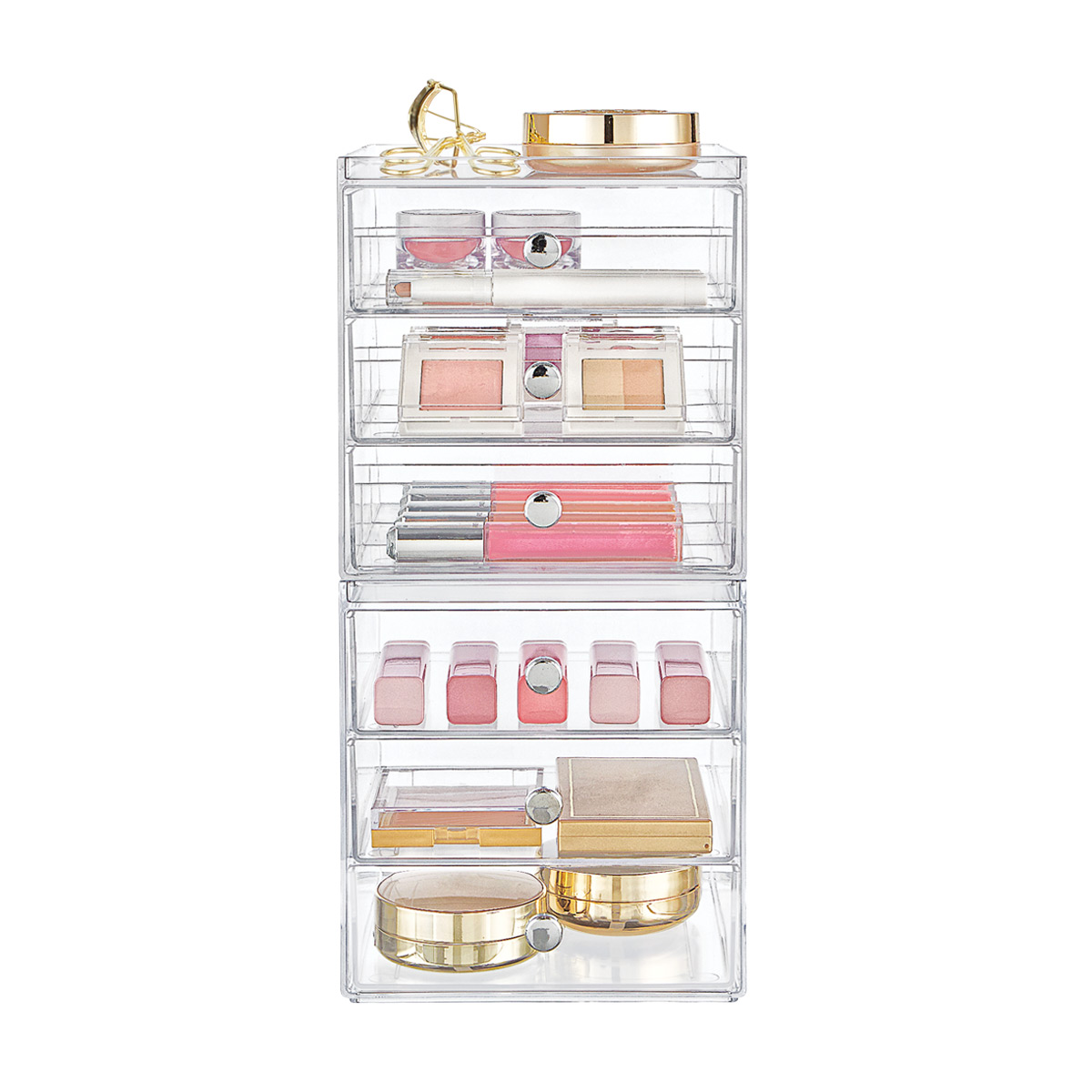iDesign Clarity 6-Drawer Makeup Storage Starter Kit