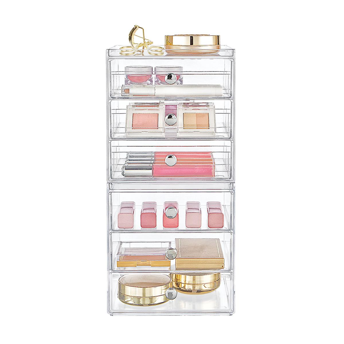 InterDesign Clarity 6-Drawer Makeup Storage Starter Kit