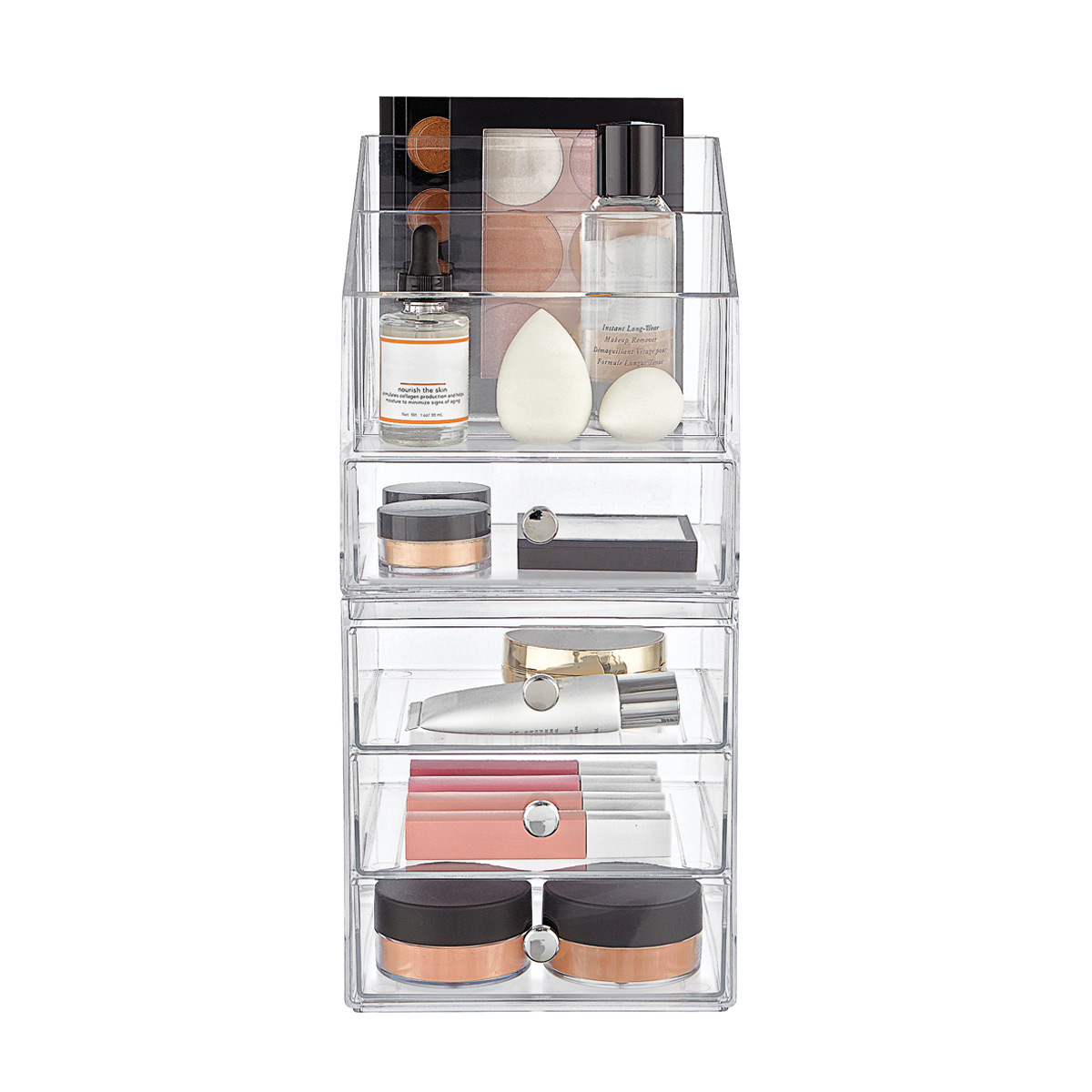 iDesign Clarity 4-Drawer Makeup Storage Starter Kit