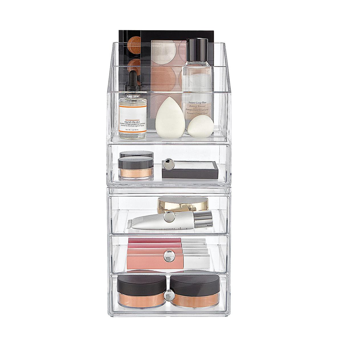 InterDesign Clarity 4-Drawer Makeup Storage Starter Kit