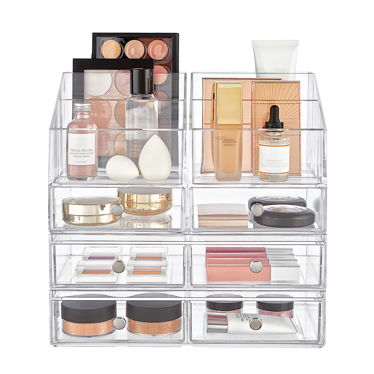 iDesign Clarity Large Makeup & Skincare Storage Starter Kit