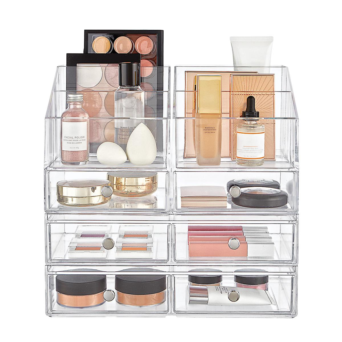 InterDesign Clarity Large Makeup & Skincare Storage Starter Kit