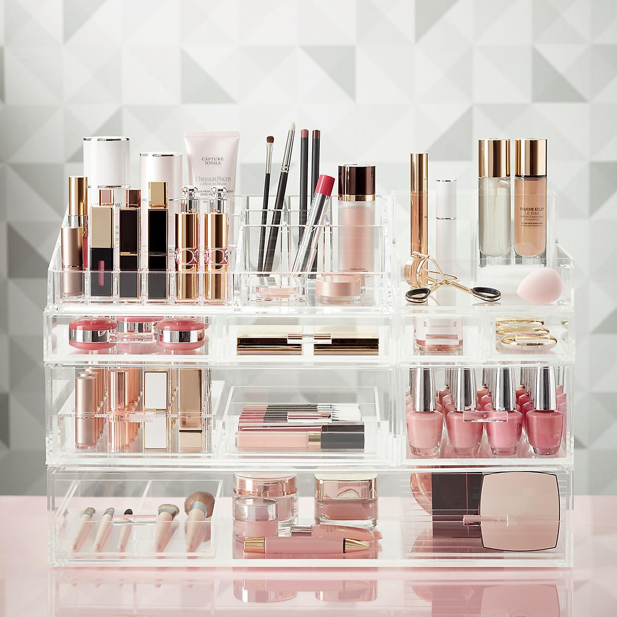 Luxe Acrylic Large Makeup & Nail Polish Storage Kit