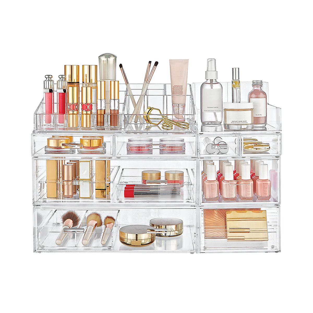 Luxe Acrylic Large Makeup & Nail Polish Storage Starter Kit