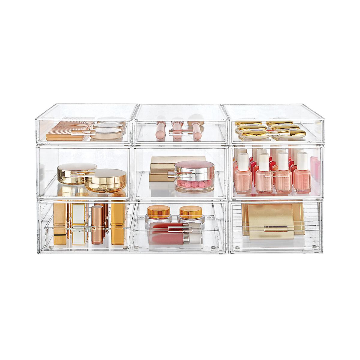 Luxe Acrylic Medium Makeup & Nail Polish Storage Starter Kit