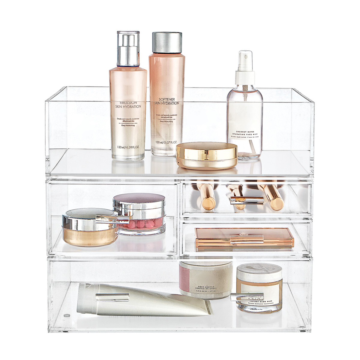 Luxe Acrylic Makeup & Skincare Storage Starter Kit