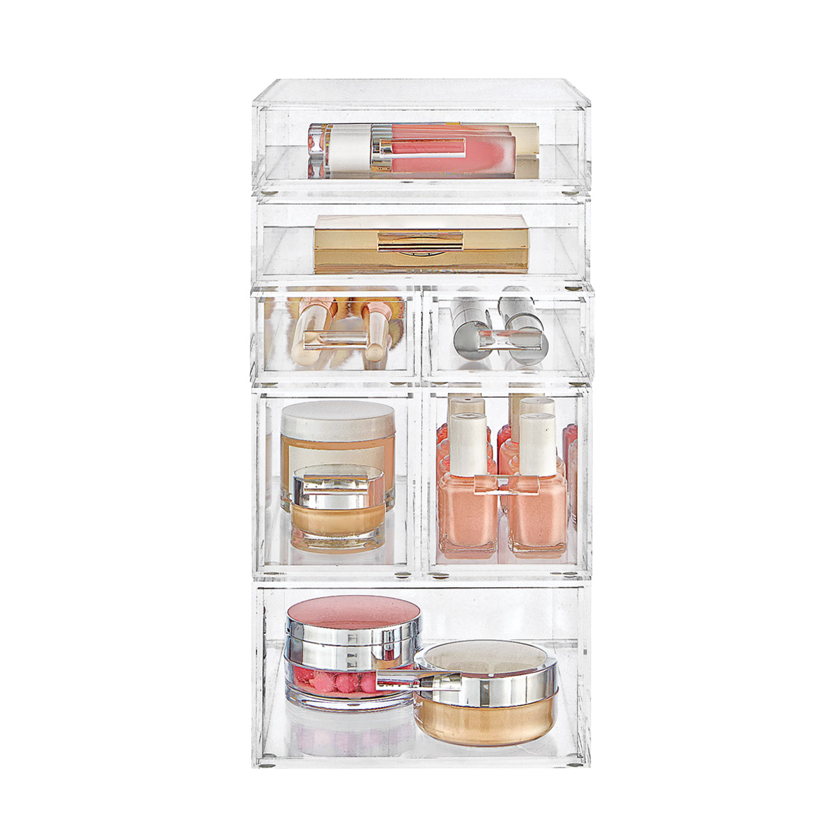 Luxe Acrylic Small Makeup & Nail Polish Storage Starter Kit