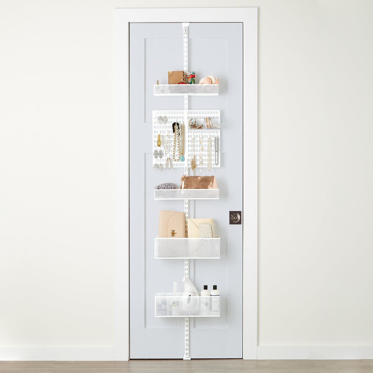 Elfa White Utility Mesh Closet Over the Door Rack