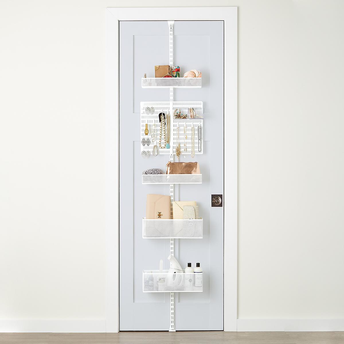 White elfa utility Mesh Closet Door & Wall Rack