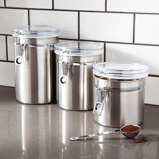 Brushed Stainless Steel Canisters