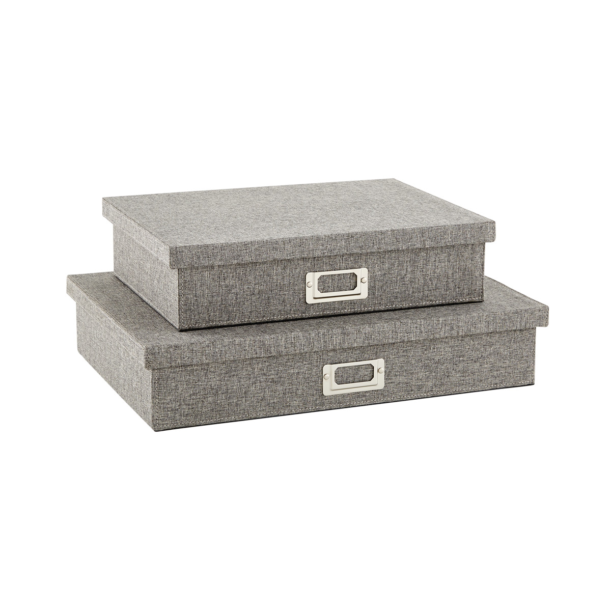 Bristol Linen Charcoal Office Storage Boxes
