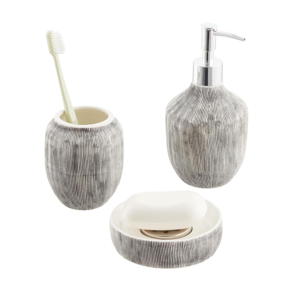 White Ceramic Countertop Bathroom Set