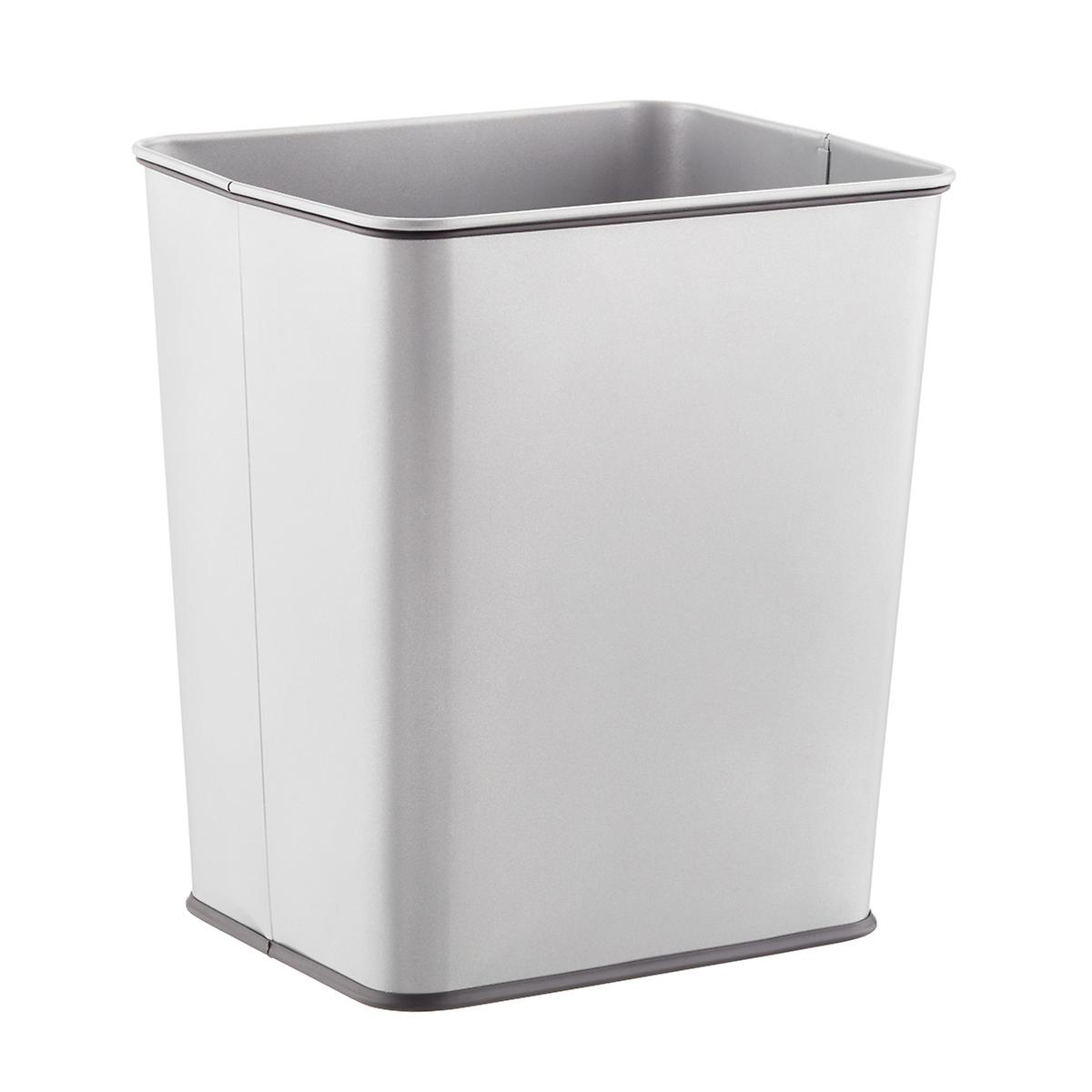 Polder Silver 7 gal. Rectangular Undercounter Trash Can