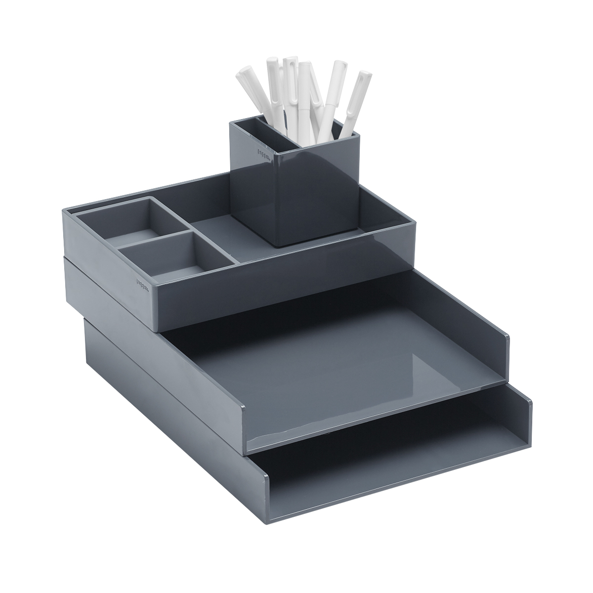 Dark Grey Poppin Letter Tray Starter Kit