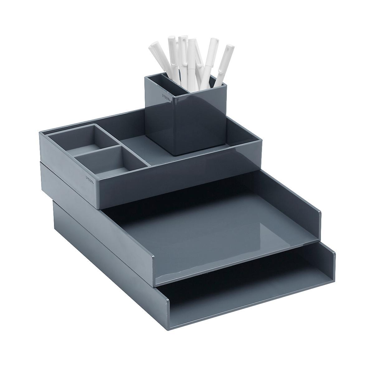 Dark Grey Poppin Letter Tray Starter Kit