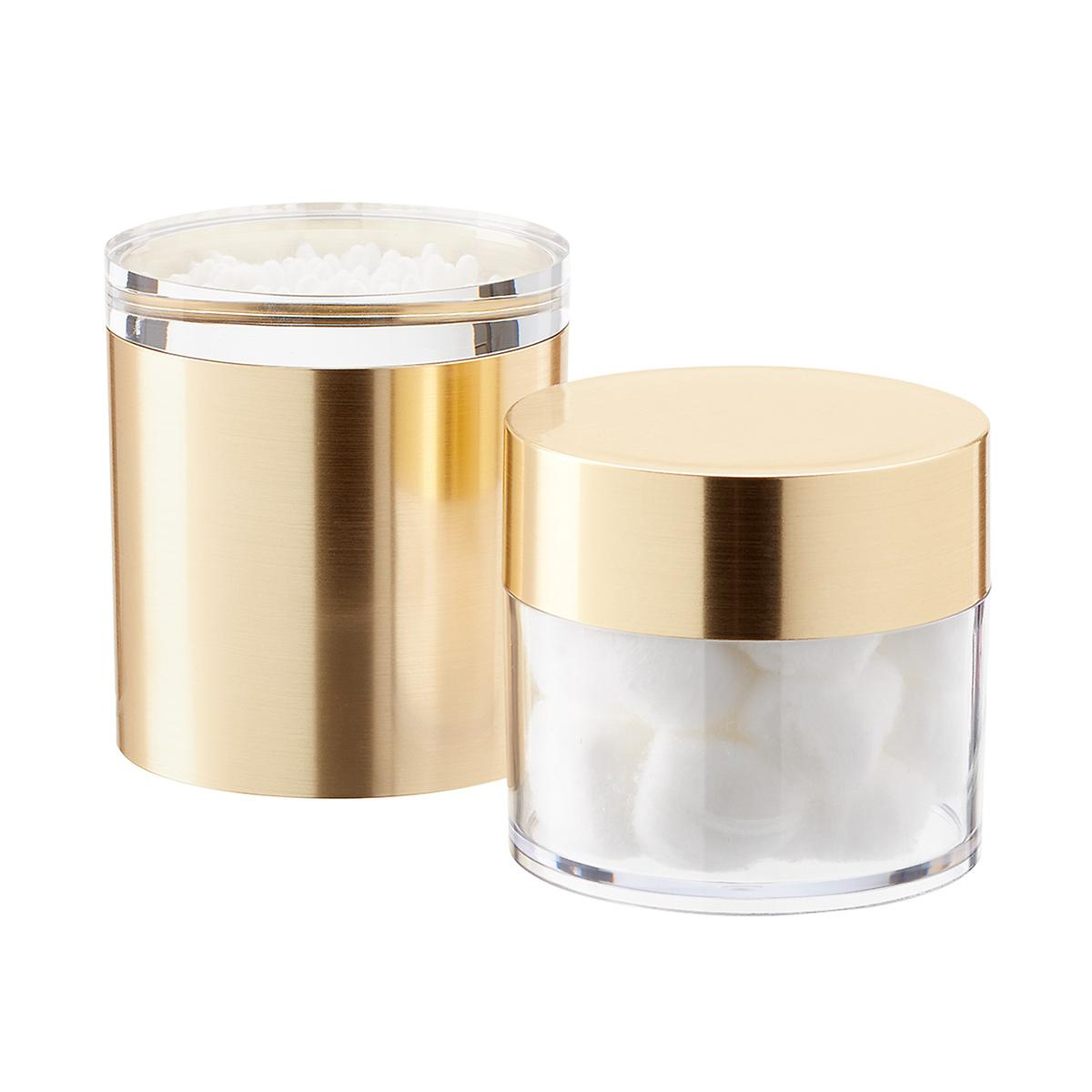 Brushed Gold Metallic Canisters with Lids
