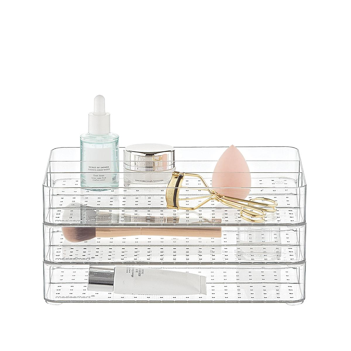 madesmart Stacking Makeup Storage Trays Starter Kit